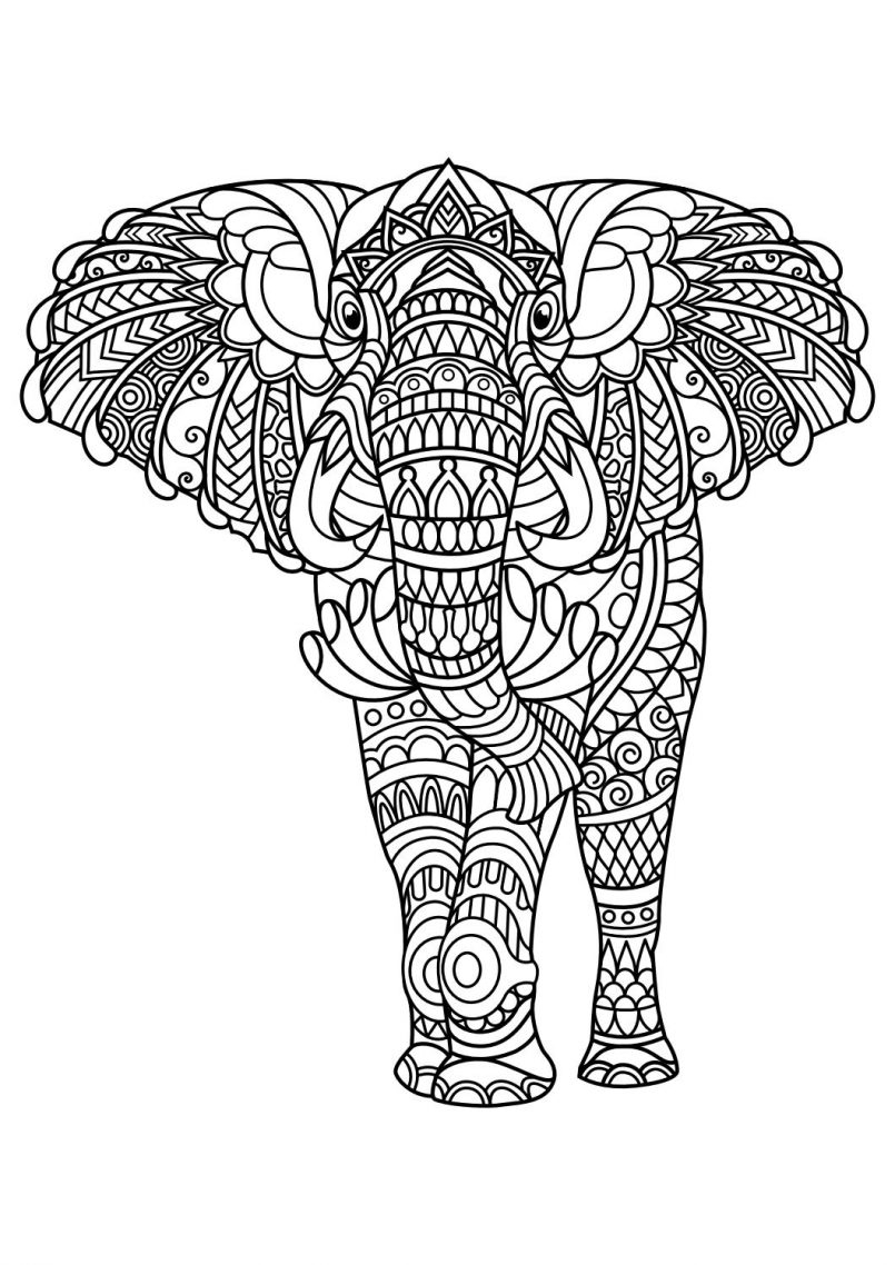best animal mandala coloring pages collection printable of mandala elephant 123rf mandalas coloring pages for adults