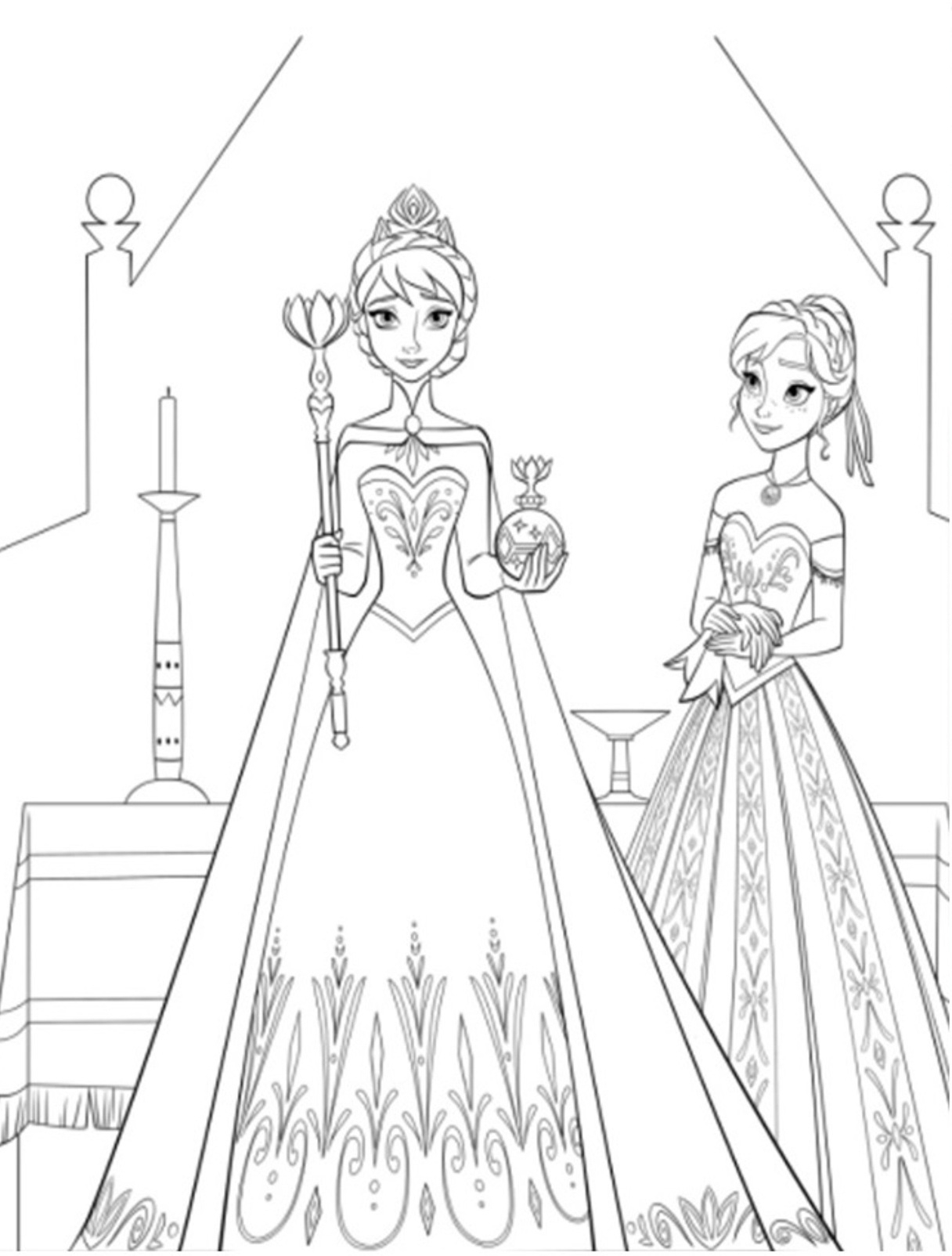 Best Free Elsa And Anna Coloring Pages Disney Frozen Cartoons Color Printable Of Princess