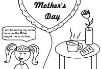 Mothers Day Coloring Pages Kids - Best Free Printable Mothers Day Coloring Pages for Kids Free 4527 Download