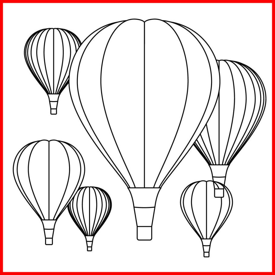Hot Air Balloon Coloring Pages Printable 3d - Free For Children