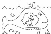 Cartoon Whale Coloring Pages - Best Jonah and the Whale Coloring Pages for Preschoolers Download