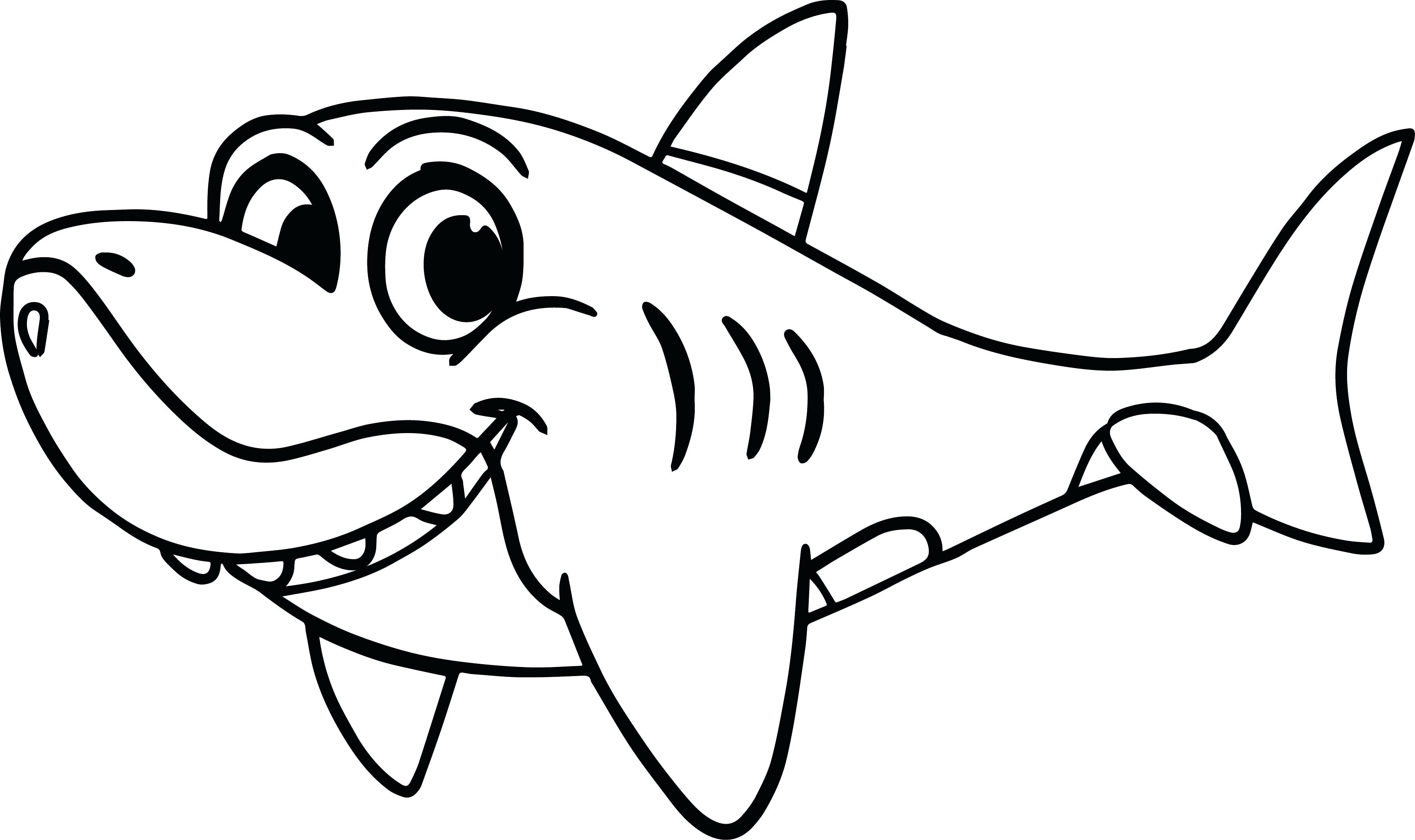 Great White Shark Coloring Pages to Print Free Coloring