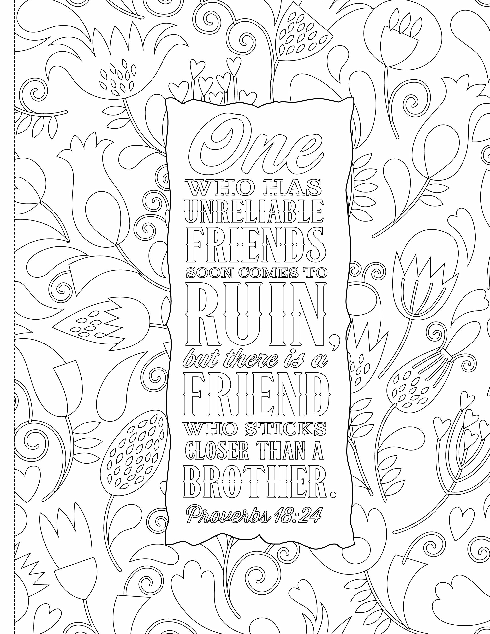 Bible Coloring Pages for Kids with Verses Free Verse Best Free to ...