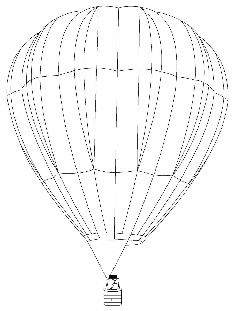 Boy In Hot Air Balloon Coloring Pages Coloringstar Gallery Of Hot Air Balloon Coloring Page Collection