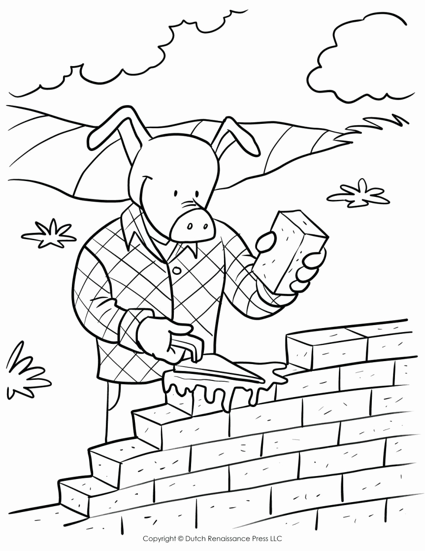 Brick Wall Coloring Page Collection Brick Coloring Page Pages ...