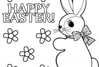 Coloring Pages for Kids for Easter - Brilliant Easter Bunny Coloring Pages Printable with within to Print Gallery