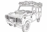Land Rover Coloring Pages - Camel Trophy Land Rover Defender 110 Ink Drawing Gallery