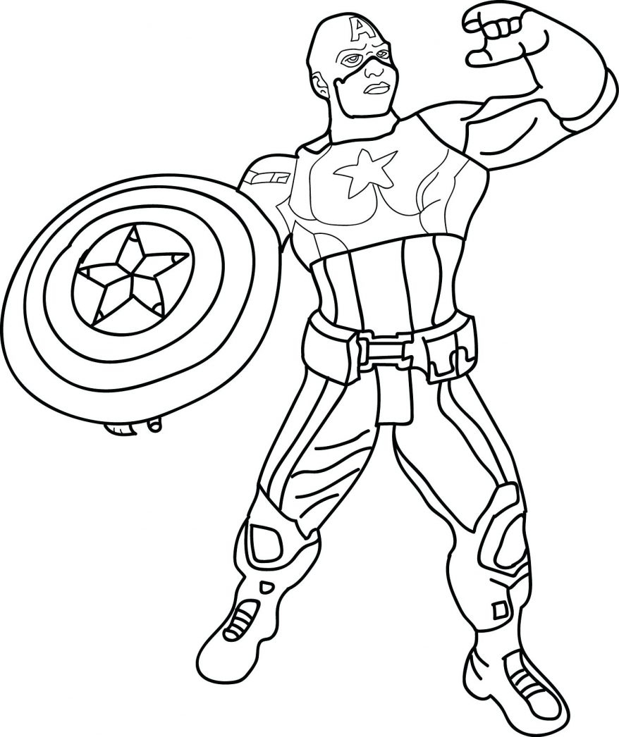 Captain America Coloring Pages Lego Colouring Page For Avenger Print Download