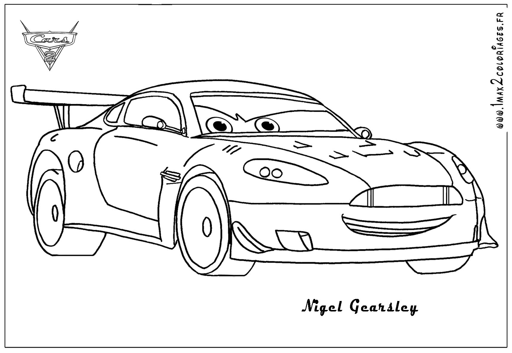 Cars 2 to Color 14 Nigel Cars 2 Mcqueen Coloring to Print Of Disney Car Coloring Pages Cars Free Download