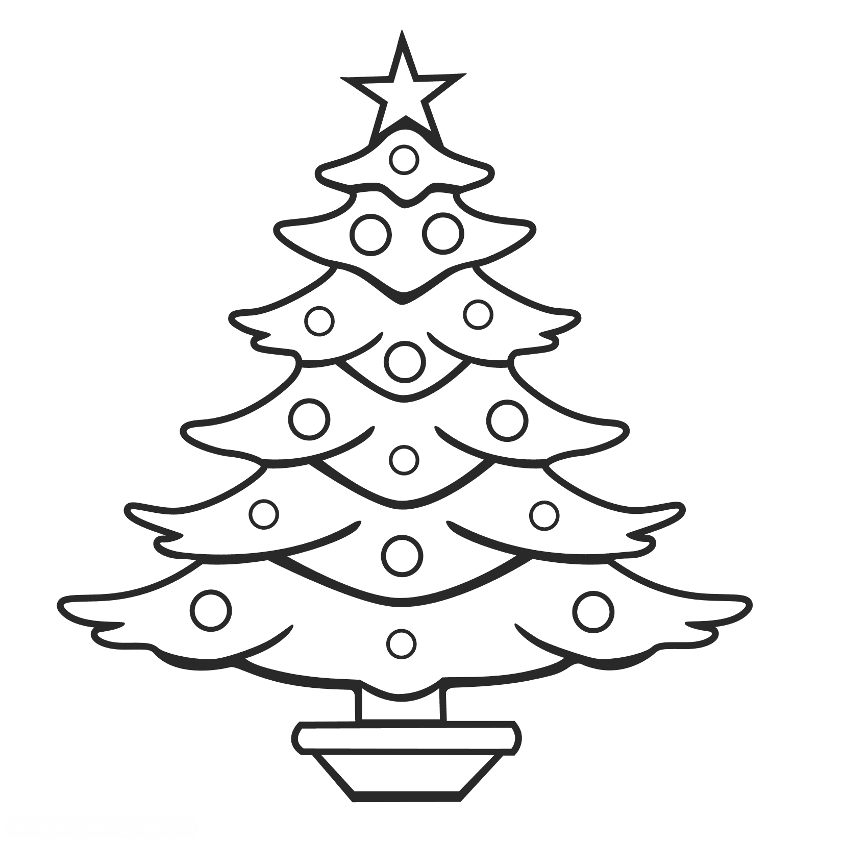 Christmas Tree Coloring Pages Getcoloringpages Gallery Free Gallery Of Noted Coloring Picture A Tree Pages Unknown Resolutions Printable