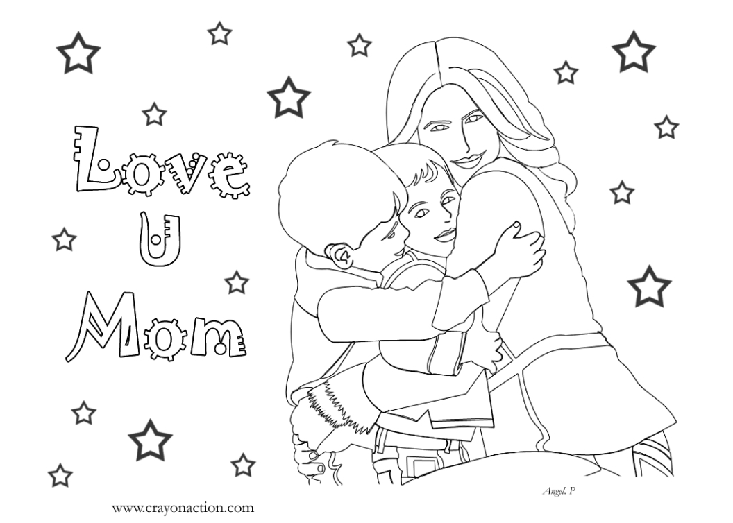 Color Pages For Mom Happy Birthday Coloring Printable Of I Love You