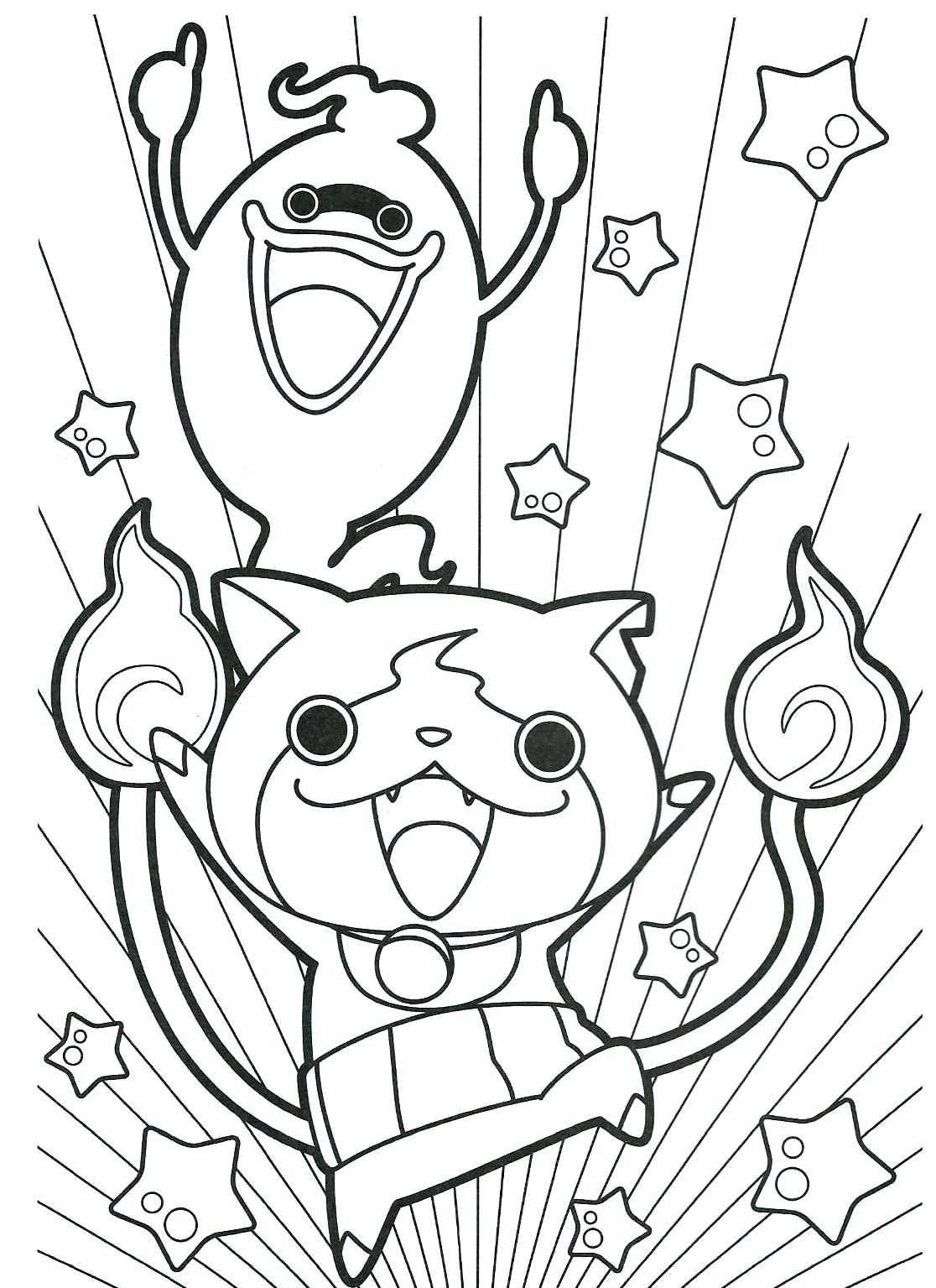 Coloriage Yo Ka¯ Watch Gratuits   Imprimer Yokaiwatch Coloringpage Printable Of Yo Kai Watch Coloring Pages Printable Collection
