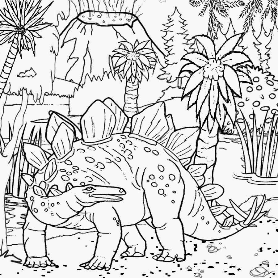 Dinosaurs Coloring Pages - Coloring Book and Pages Free Printable Dinosaur Habitat Coloring Printable