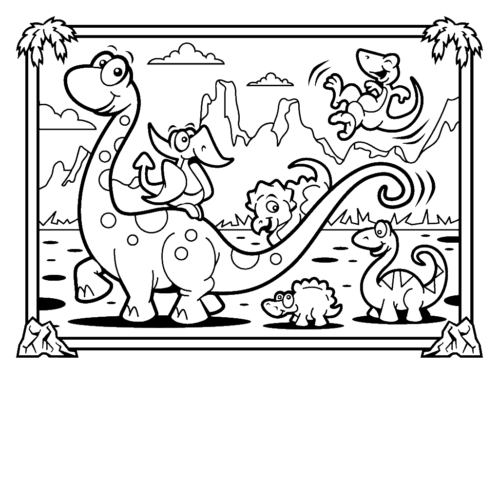 Coloring Book and Pages Incredible Dinosaurs Coloring Pages to Print Of Coloring Book and Pages Free Printable Dinosaur Habitat Coloring Printable
