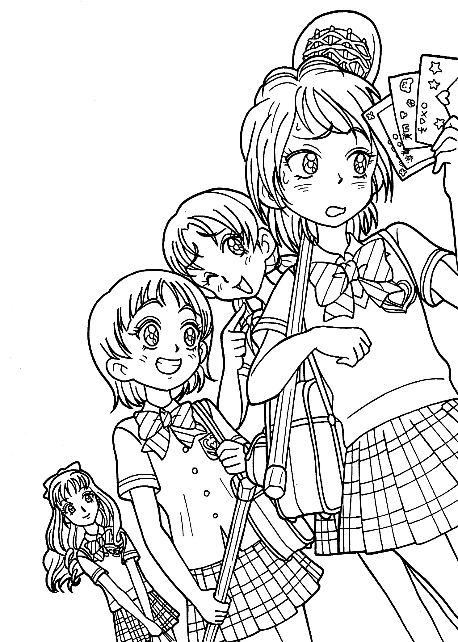 Coloring Page Anime Characters Coloring Page Pedia to Print Free to Print Of Free Coloring Pages Printable New Kilari and Seiji Anime Coloring Printable