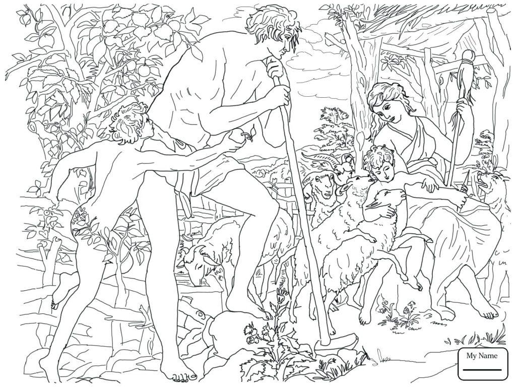 Coloring Pages Adam and Eve Coloring Pages for Kids Bible Mourn Collection Of And Eve Coloring Pages Coloring Pages Download