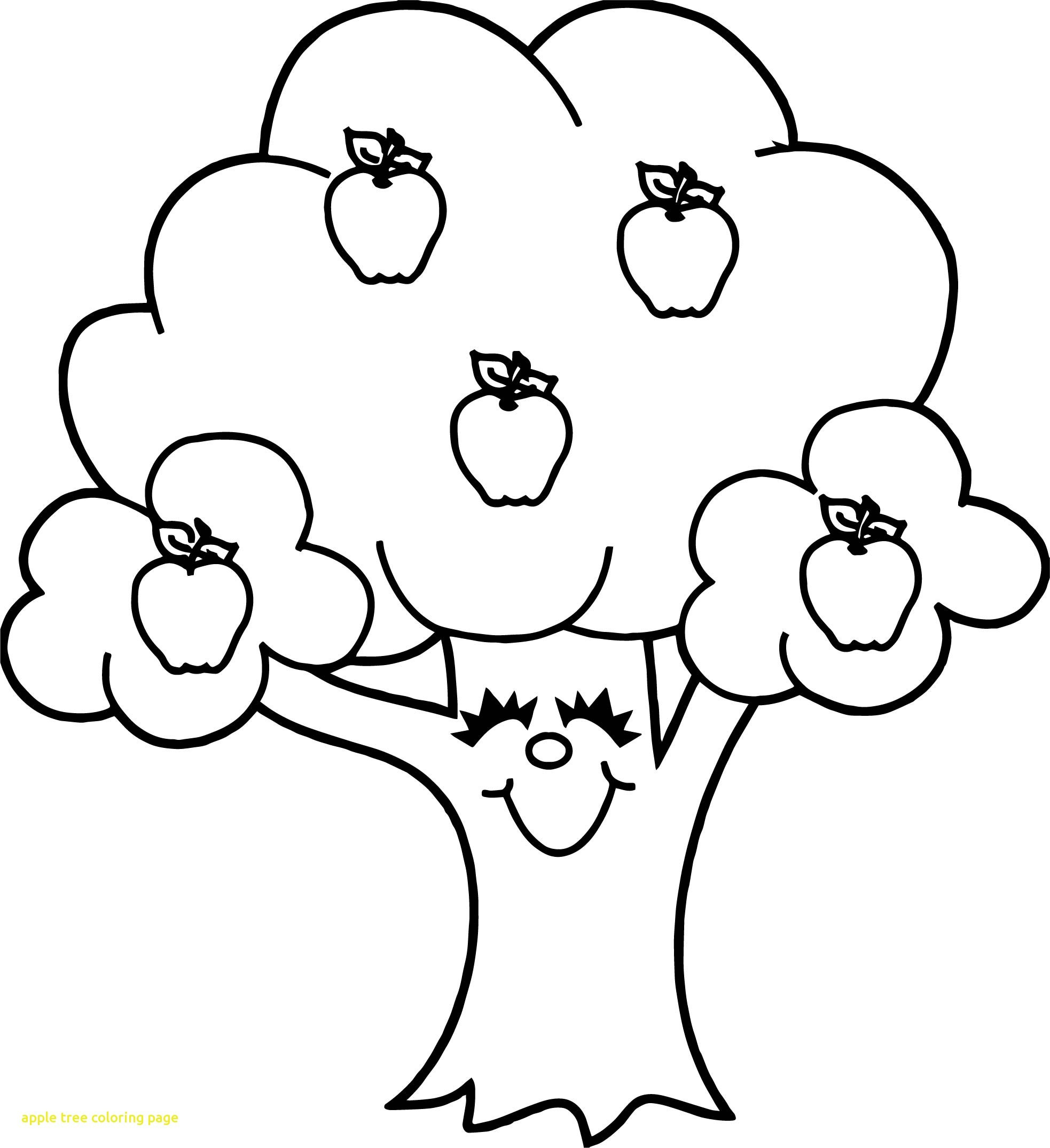 Coloring Pages Apple Tree Best Apple Tree Coloring Pages Free Gallery Of Noted Coloring Picture A Tree Pages Unknown Resolutions Printable