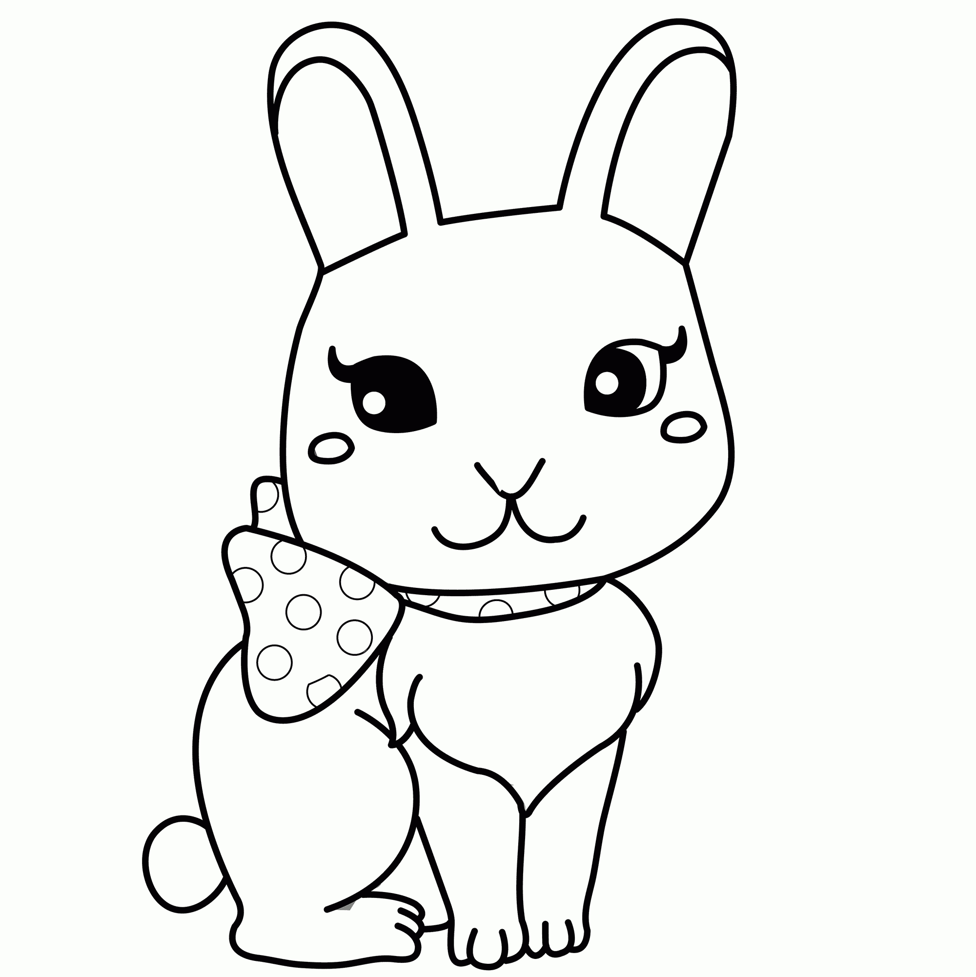Coloring Pages Of A Rabbit Printable