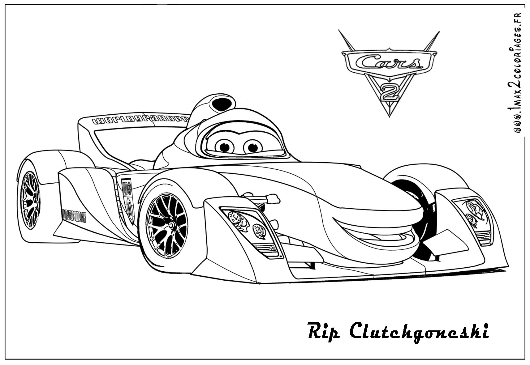 Coloring Pages Cars 2 to Print 3f - Free Download