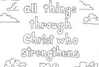 Free Scripture Coloring Pages - Coloring Pages for Kids by Mr Adron Philippians 4 13 Print and Collection