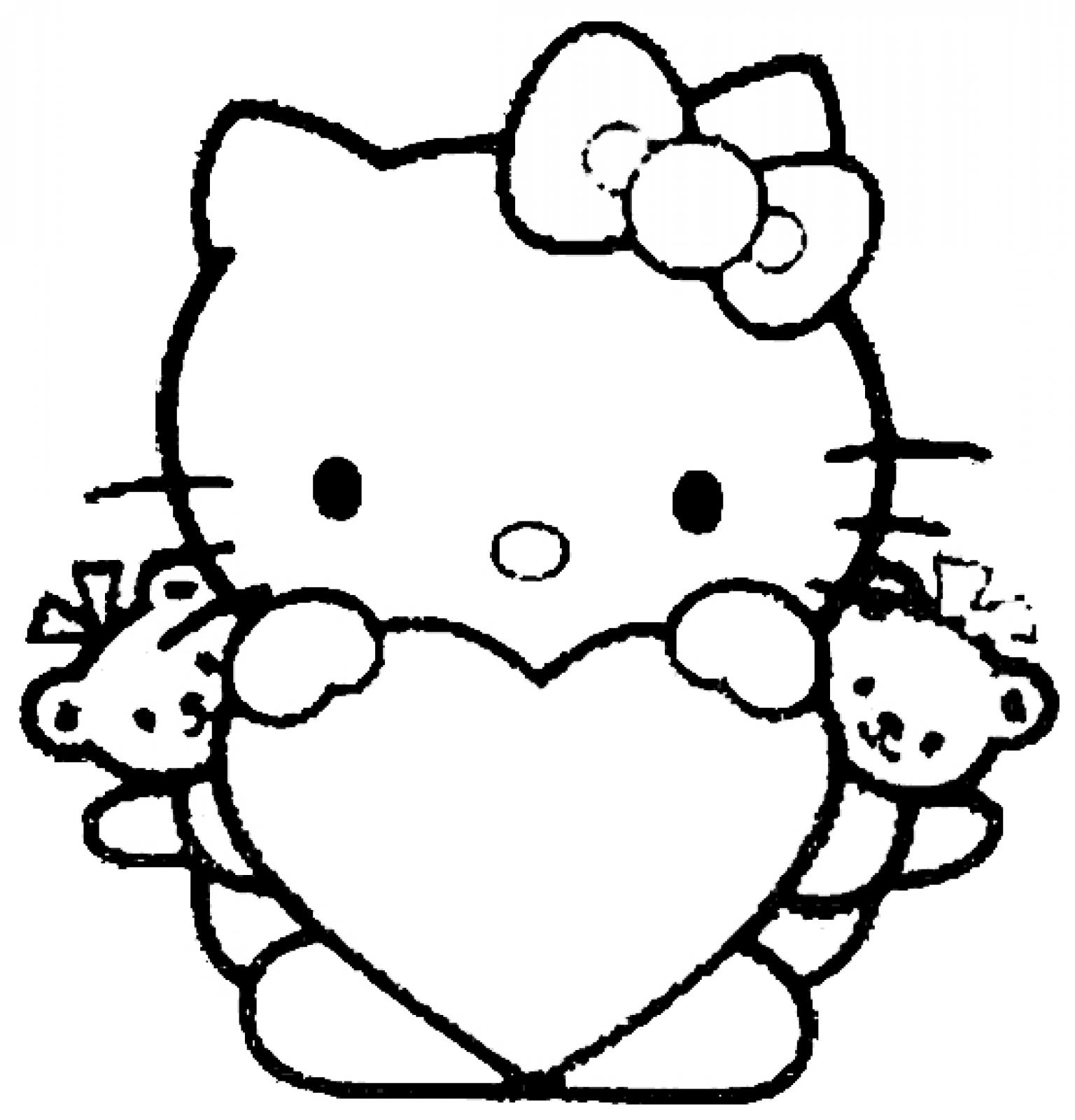 Coloring Pages for Kids to Print Out Hello Kitty Hello Kitty Heart Collection Of Proven Coloring Pages to Print Hello Kitty 2895 Unknown Printable