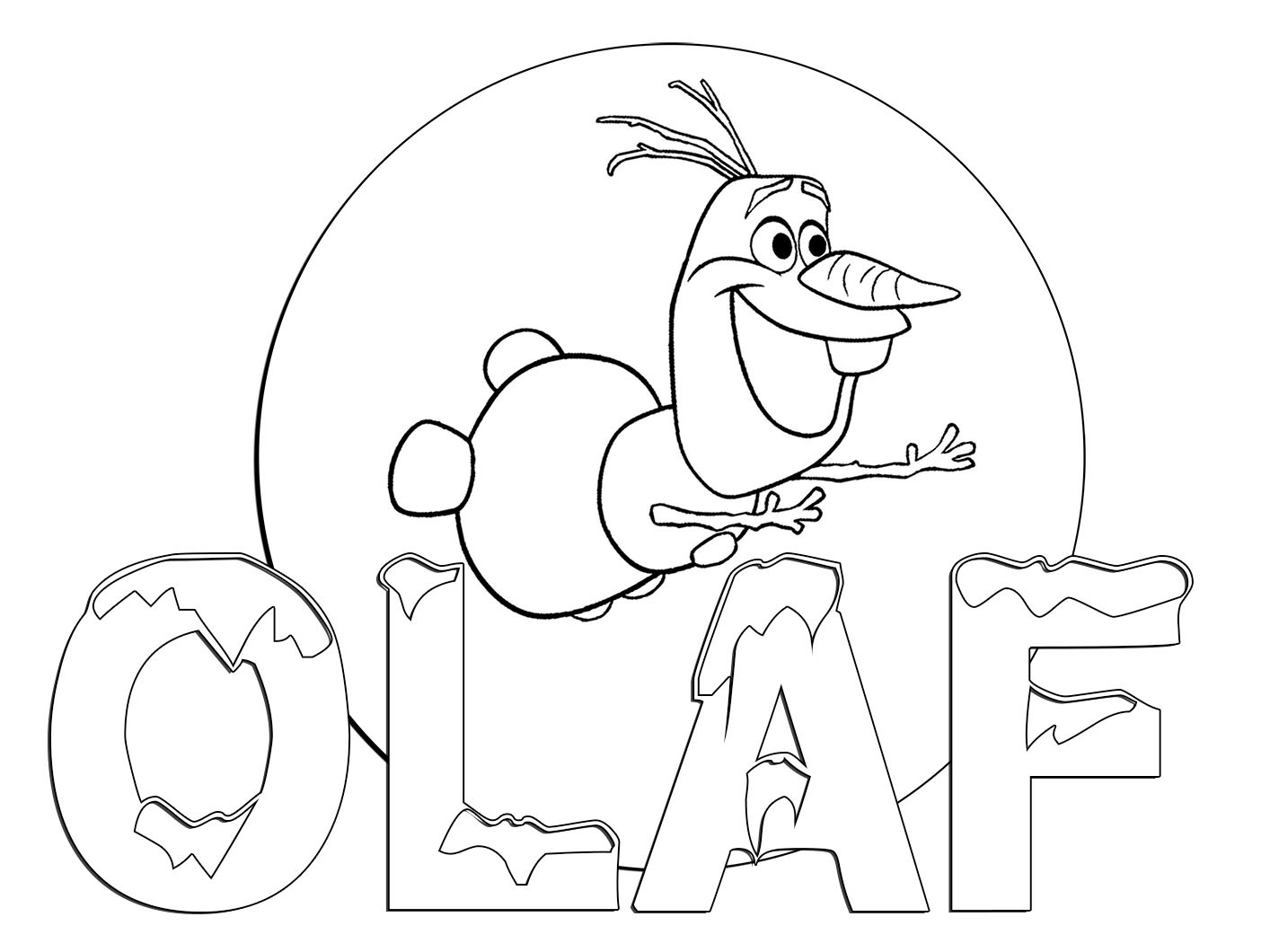 Free Printable Colouring Pages Disney Frozen Olaf Coloring Fresh ...