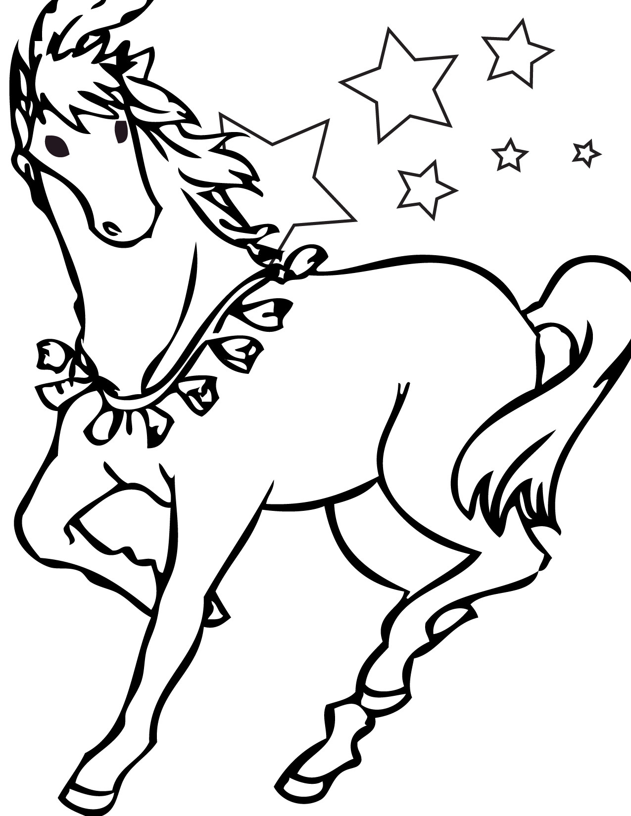 Coloring Pages Horse Printable Of Horse Detailed Coloring Pages Gallery