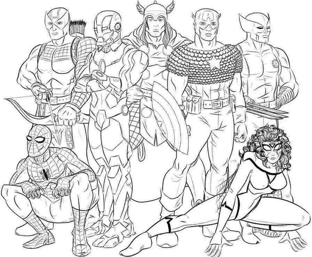 Marvel Super Heroes 297 Superheroes – Printable Coloring Pages ...