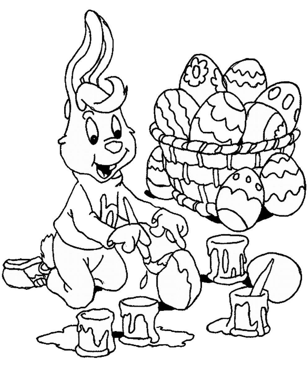 Coloring Pages Printable Of Easter Basket Coloring Pages Printable Gallery to Print