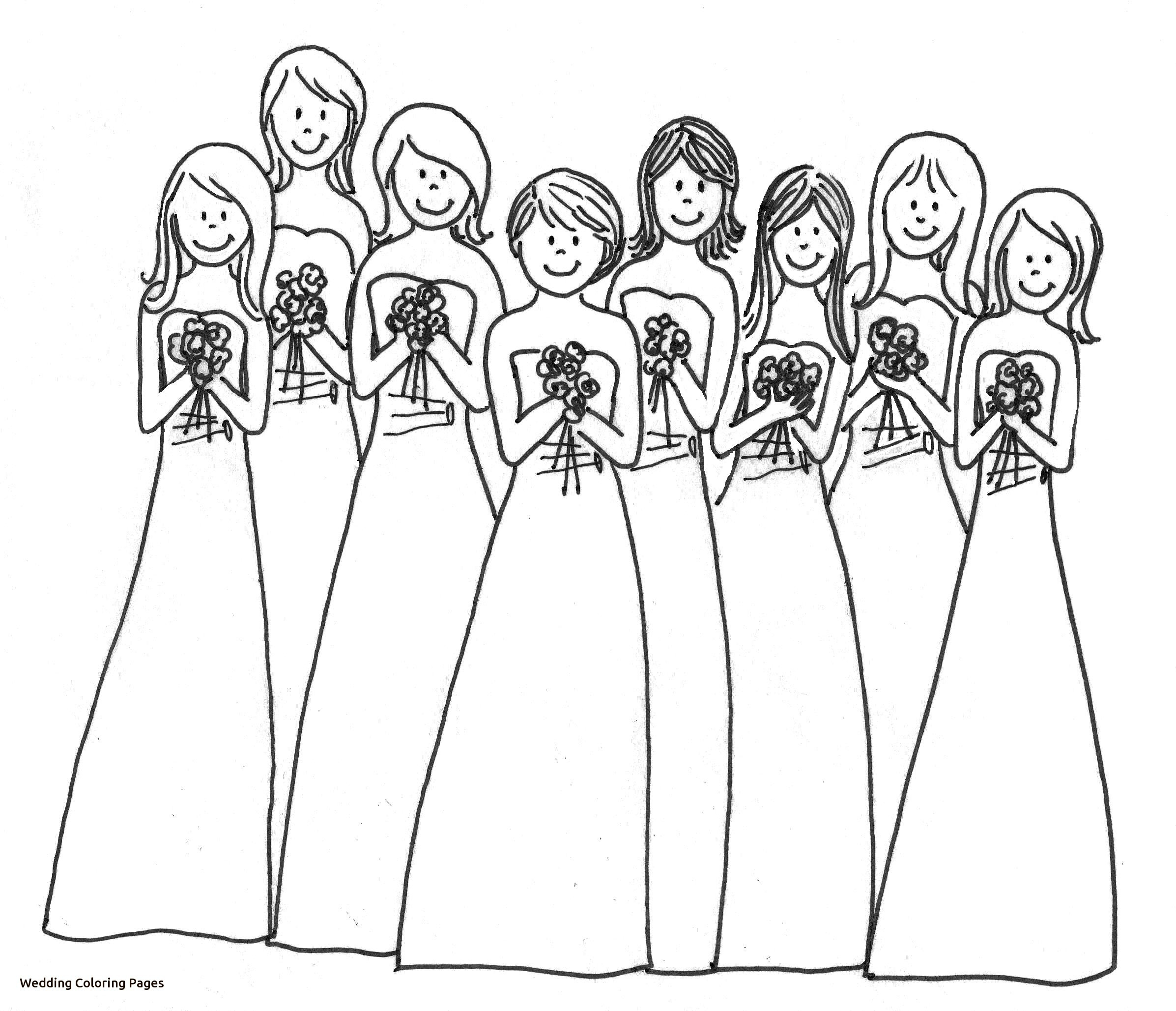 Wedding Coloring Pages Free Line Kids Coloring Printable – Free ...