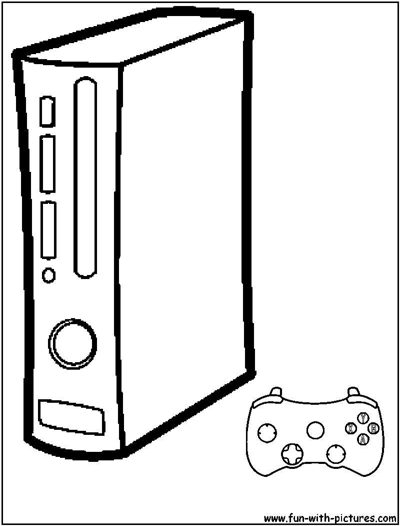 Coloring Pages Xbox 360 Collection Of Xbox Coloring Pages Baskanai Collection