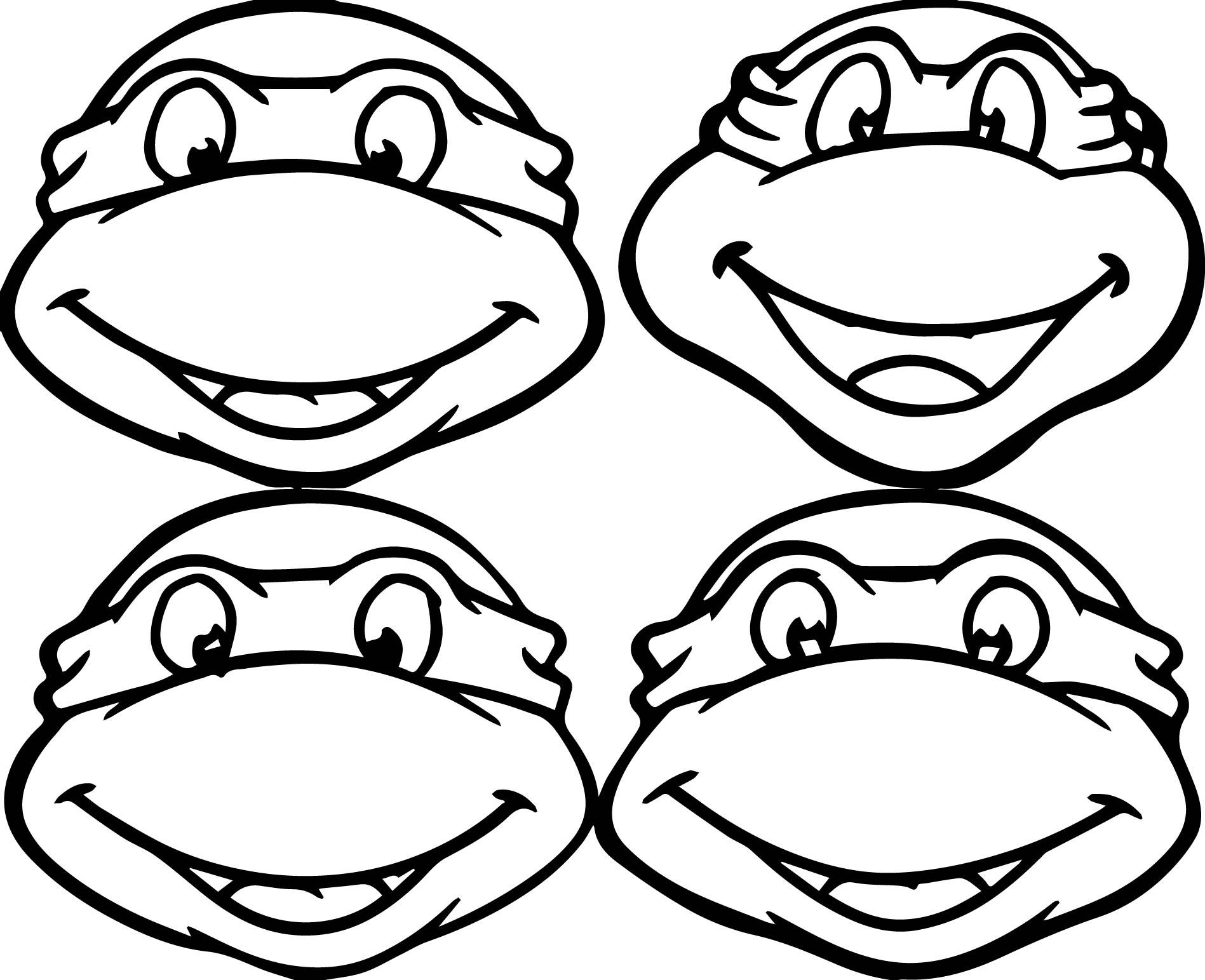 Teenage Ninja Turtle Coloring Pages Download 5b - Save it to your computer