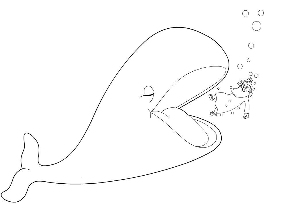Cartoon Whale Coloring Pages