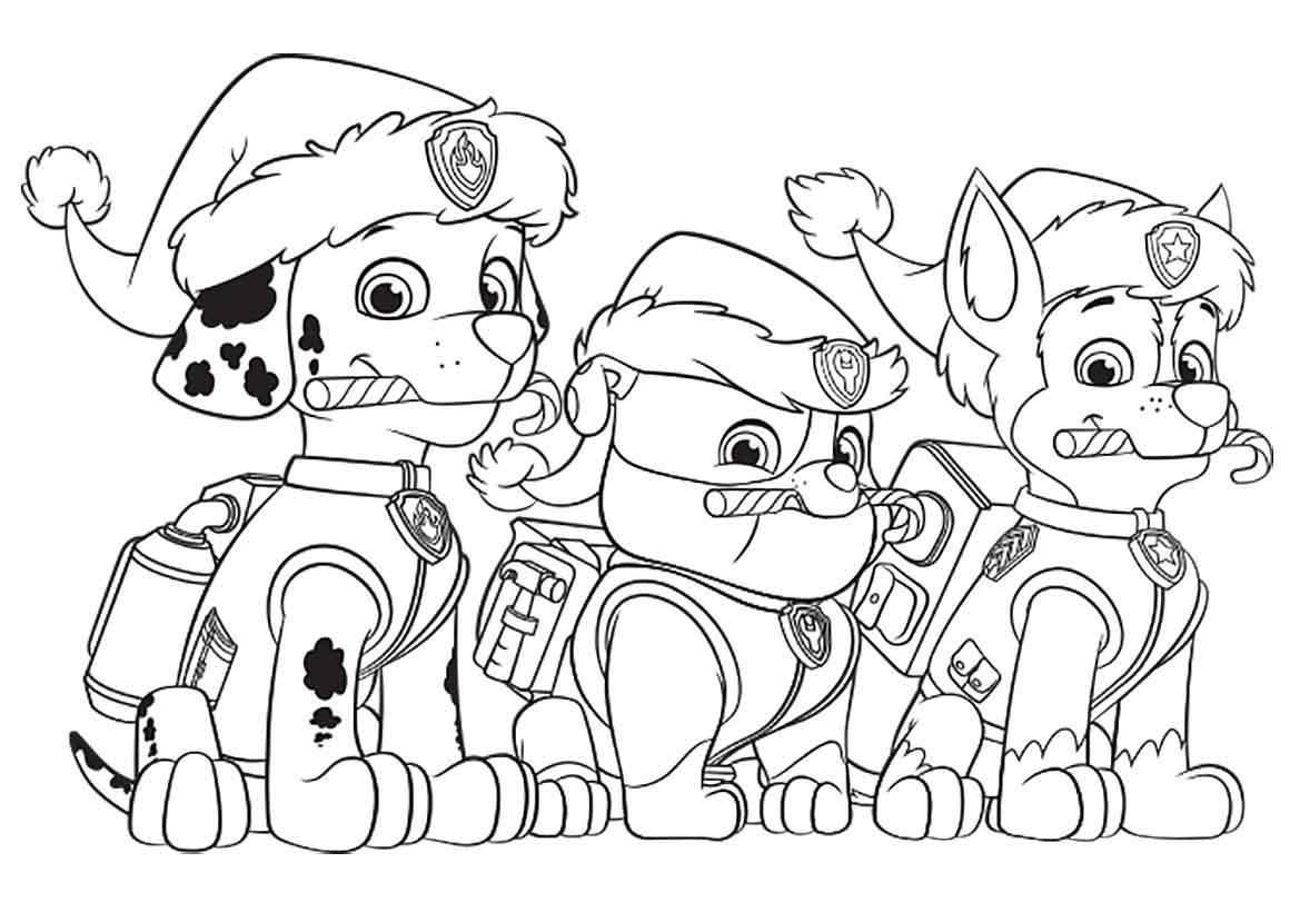 Cool Paw Patrol Coloring 2 Pages Free Printable Of Patrick Spongebob Christmas
