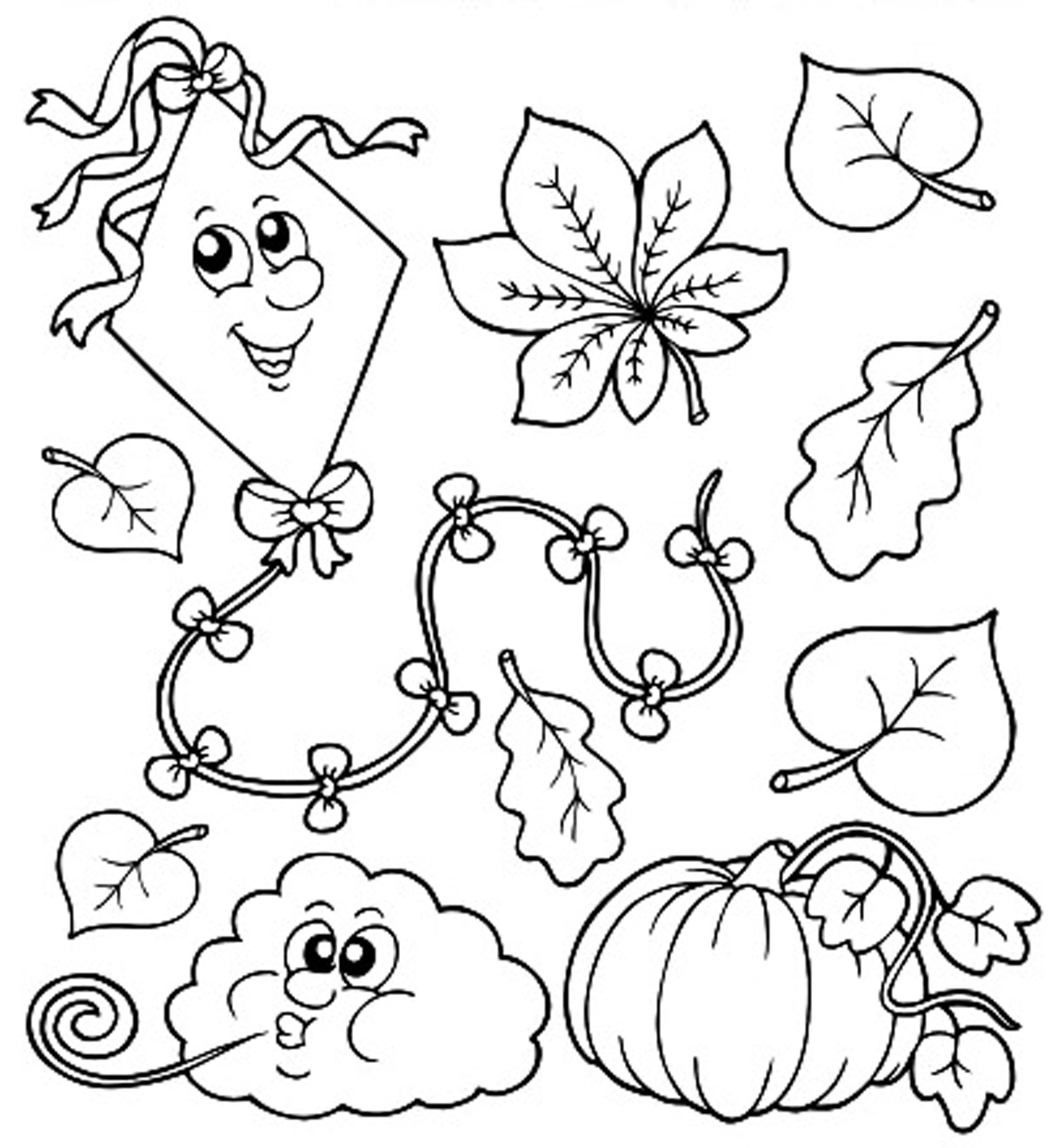 cool weather printable fall toddler coloring pages tone autumn collection