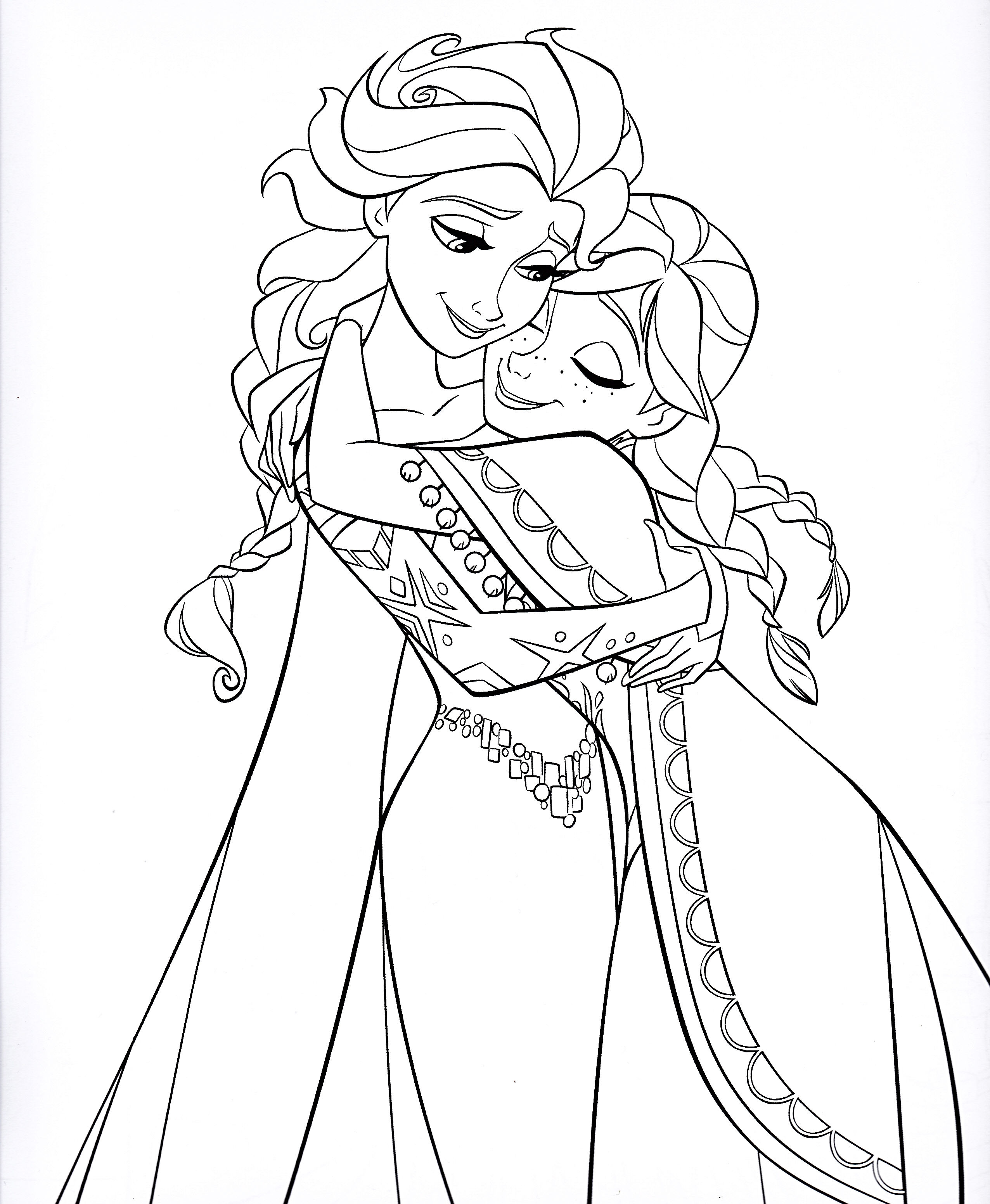 Creative Design Anna Coloring Pages Elsa And Free Page Gallery Of Printable