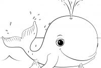 Cartoon Whale Coloring Pages - Cute Cartoon Whale Coloring Page to Print