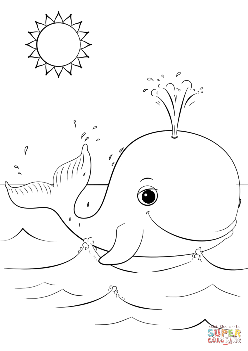 Cartoon Whale Coloring Pages Printable 18r