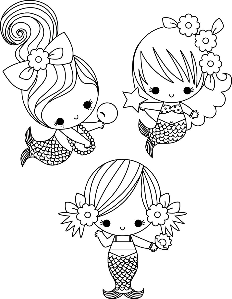 Cute Mermaid Coloring Pages to Print Of Cute Coloring Pages for Girls Printable Kids Colouring Pages Kids Gallery