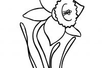 Daffodils Coloring Pages - Daffodil Coloring Page to Print