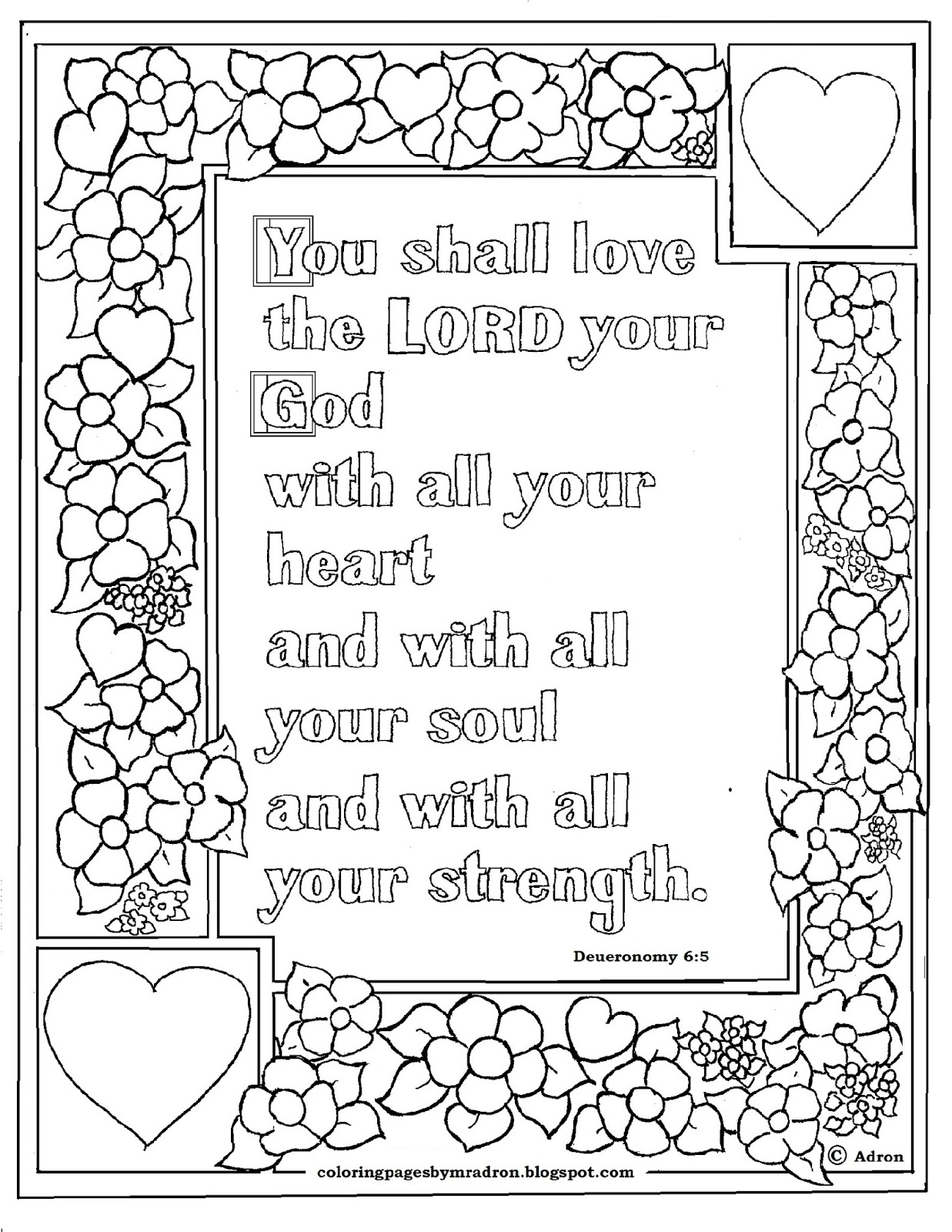 Deuteronomy 6 5 Bible Verse to Print and Color This is A Free Collection Of Free Printable Adult Coloring Pages Hymns & Scripture Our Printable