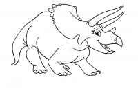 Dinosaurs Coloring Pages - Dinosaur Clipart Coloring Page Triceratop Pencil and In Color Gallery