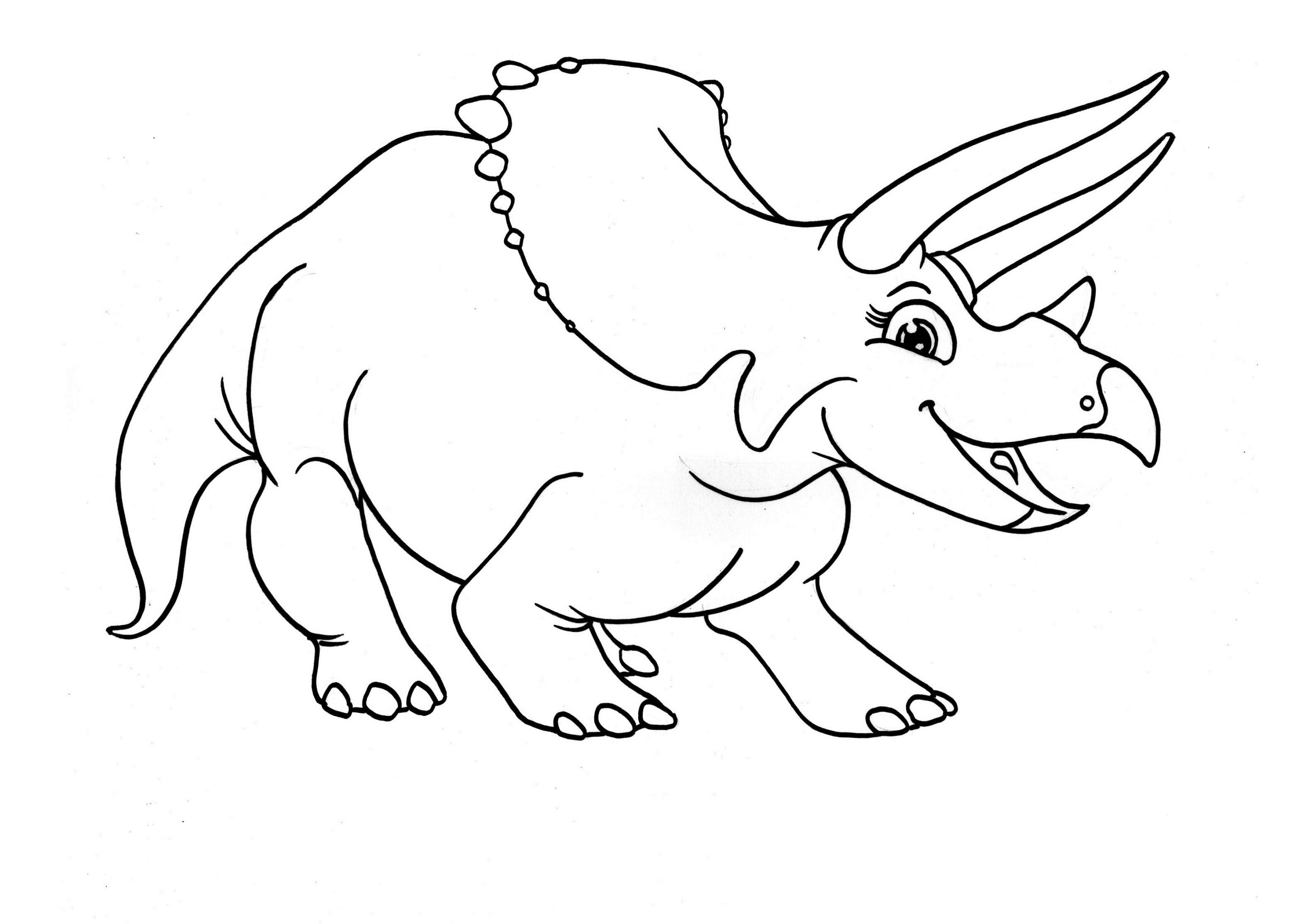 Dinosaur Clipart Coloring Page Triceratop Pencil and In Color Gallery Of Coloring Book and Pages Free Printable Dinosaur Habitat Coloring Printable