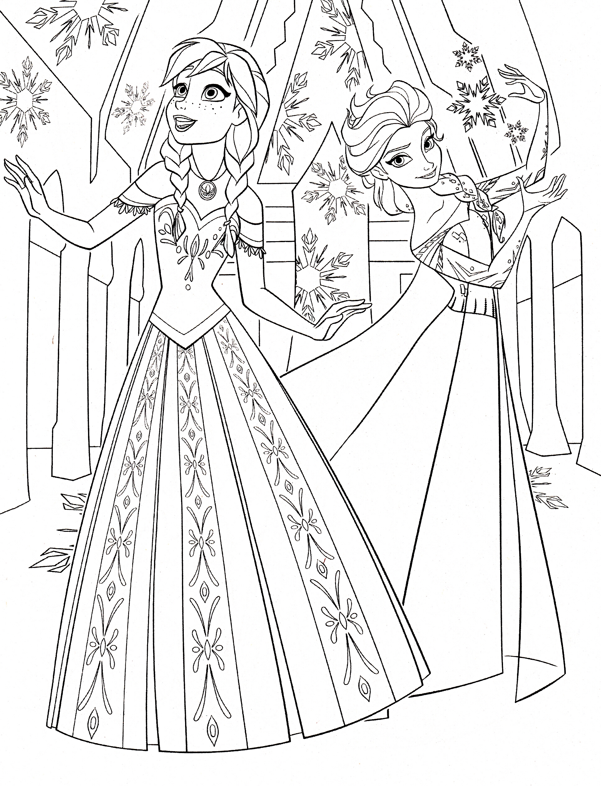 Disney Frozen Elsa Coloring Pages To Print Of Amusing Free Gallery