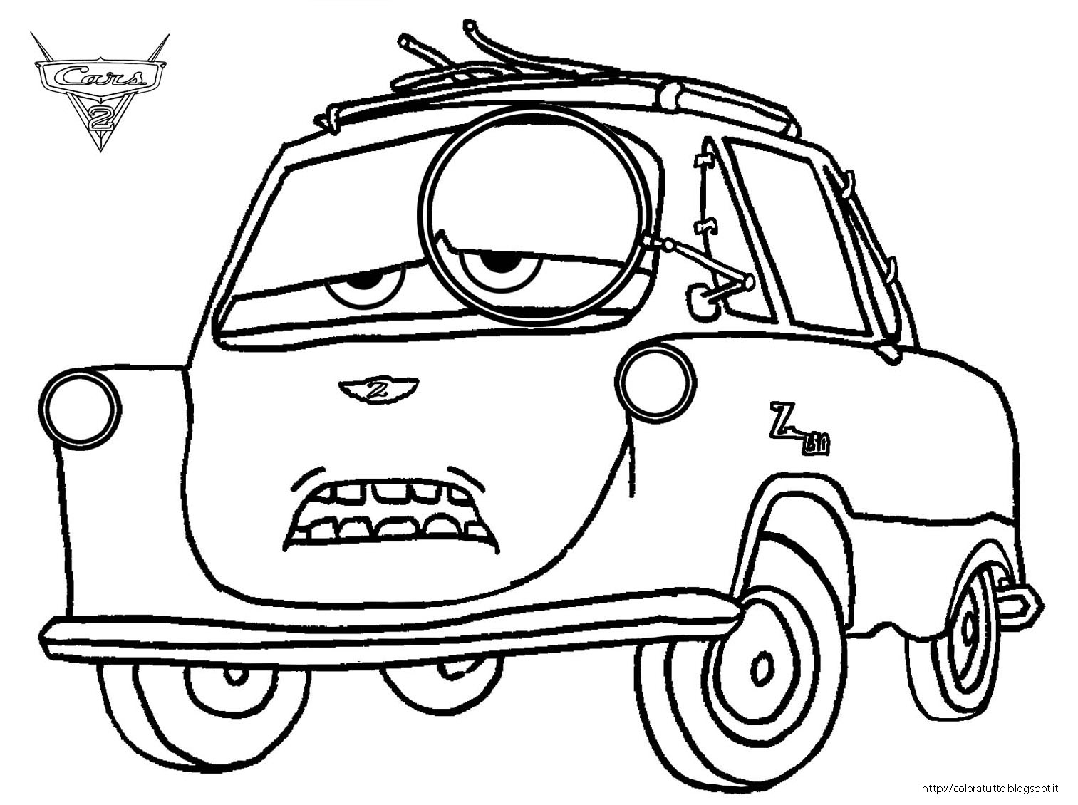 Drawing Cars 2 Cars Coloring Pages Cars 2 Professor Z Coloring Gallery Of Disney Car Coloring Pages Cars Free Download