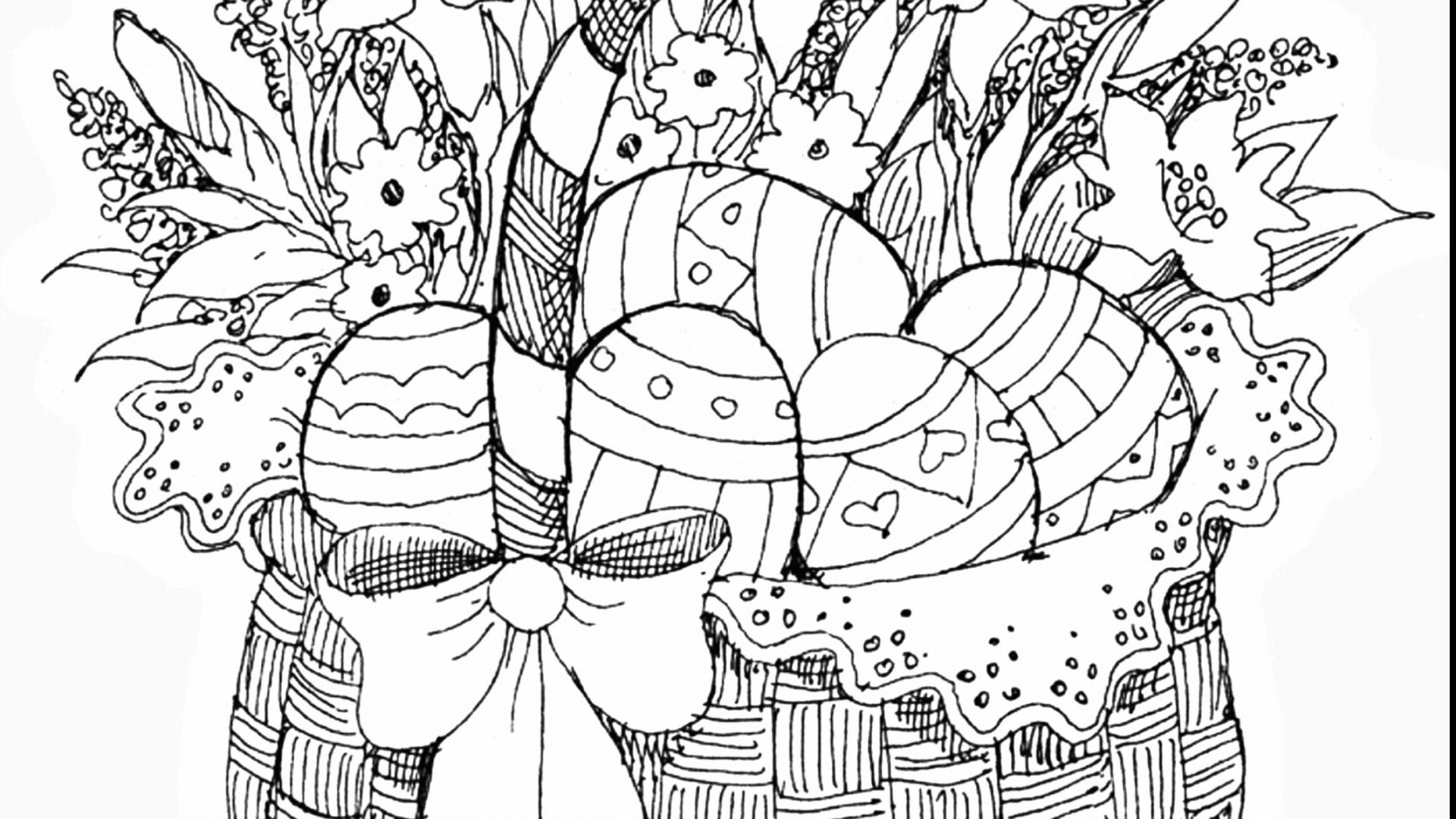 Easter Basketg Pages Easy Egg Colouring Book Empty Sensational Printable Of Easter Egg Designs Coloring Pages to Print
