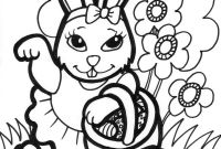 Coloring Pages Of A Rabbit - Easter Beautiful Bunny Girl Free Coloring Page Animals for Alluring Download