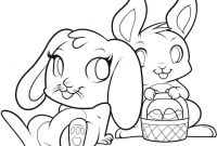 Coloring Pages Of A Rabbit - Easter Bunnies In Love Free Coloring Page Animals Bunny Capricus Gallery