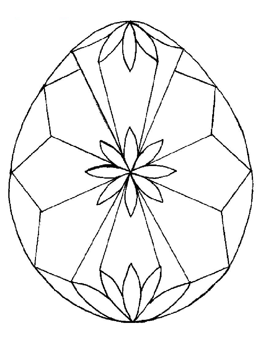Coloring Pages for Kids for Easter - Easter Egg Designs Coloring Pages to Print