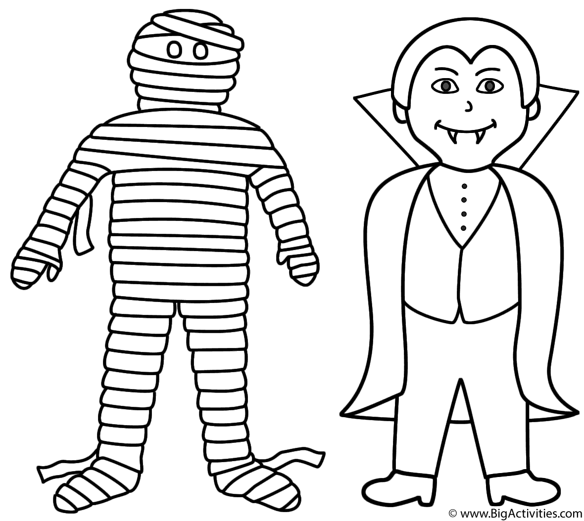 Coloring Page Mummy Coloring Pages Mummies for Kids Pig Printable ...